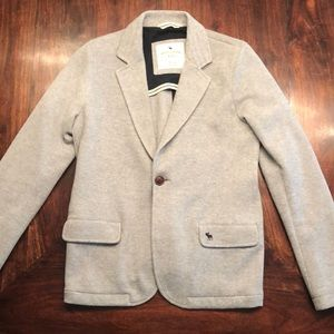 New Boys Abercrombie Fitch kids 15-16 gray blazer